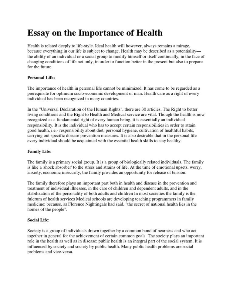 essay on health essay on health college homework help and online  essay on the importance of health social group public health
