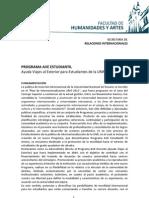 AVE ESTUDIANTIL - Fundamentación