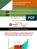5 Steps Lead Gen Machine Predictable Rev 5.20.10