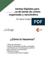 Presentación del Taller de Herramientas Digitales para la cobertura de la seguridad ciudadana y el narcotráfico