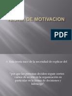TEORIA DE MOTIVACION