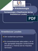 Farmacología de anestésicos locales