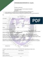 Intercomp 2012 - Autorização dos Pais