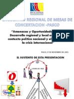 Amenazas y des Para El Desarrollo Regional y Local