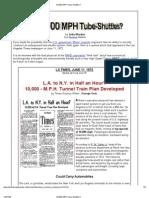 10,000 MPH Tube-Shuttles