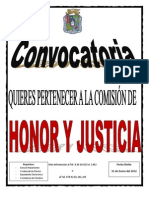 Convocatoria Honor y Justicia