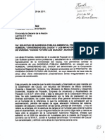 SOLICITUD ANTE LA PROCURADURÍA GENERAL DE LA NACIÓN - COLOMBIA - DE AUDIENCIA PÚBLICA PARA TRATAR EL CASO DEL HUMEDAL UNIVERSIDAD DEL CAUCA