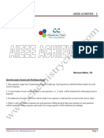 Aieee Achiever 1 Solutions