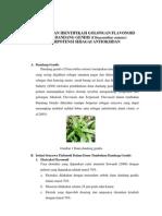 Isolasi Dan Identifikasi Golongan Flavonoid