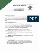 Burglary Prevention Tip Sheet
