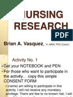 Nursing Research (1day) BAV