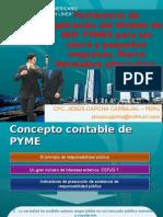 PERTINENCIA DE NIIF PYME PARA MICROEMPRESAS