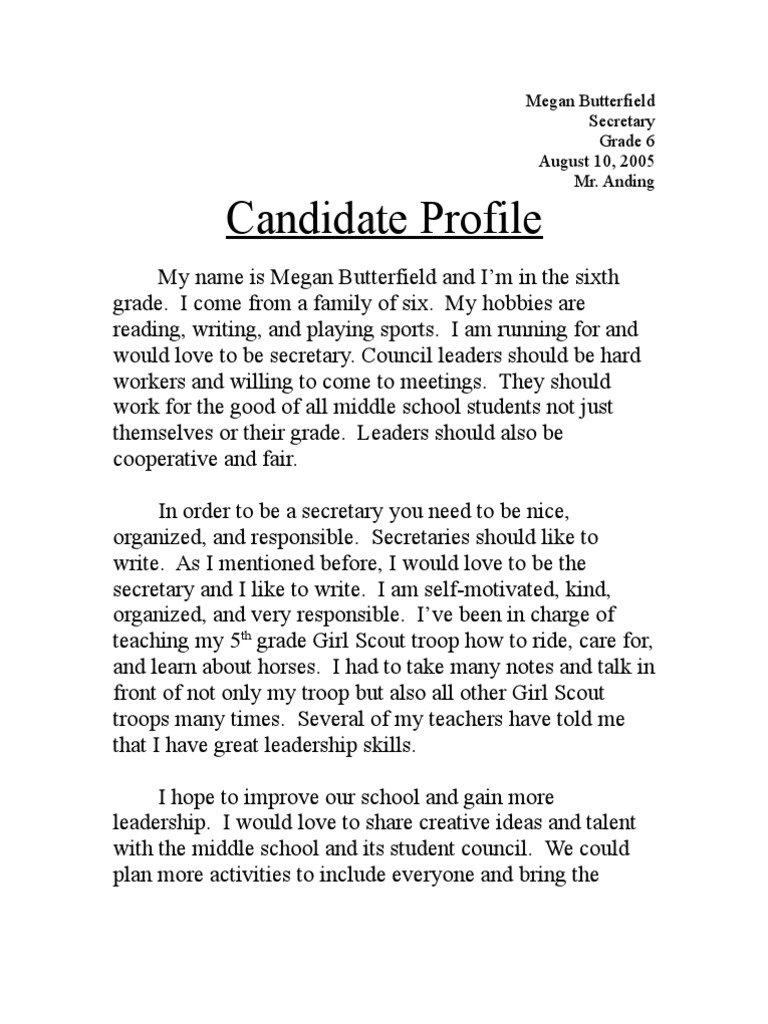 presidential candidate essay Feel free to read this non-plagiarized essay example about political parties and the electoral process  the means of choosing the candidates to hold office is.