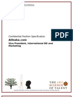 Position Spec (Draft) Alibaba VP International BD and Marketing