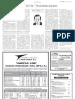 La Tercera O Cabello Nueva Ley de Telecom 08-Ene-2007