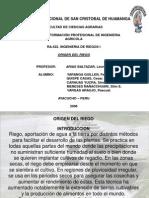 ORIGEN DE RIEGOS