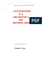 Wittgenstein e A Gramática do Significado