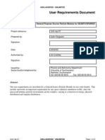 User Requirements Document