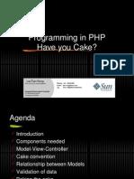 Tech Talk - Cakephp