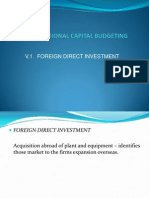 GLOBAL FINANCE - Foreign Direct Investments