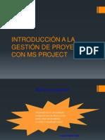 INTRODUCCIÓN A LA GESTIÓN DE PROYECTOS CON MS
