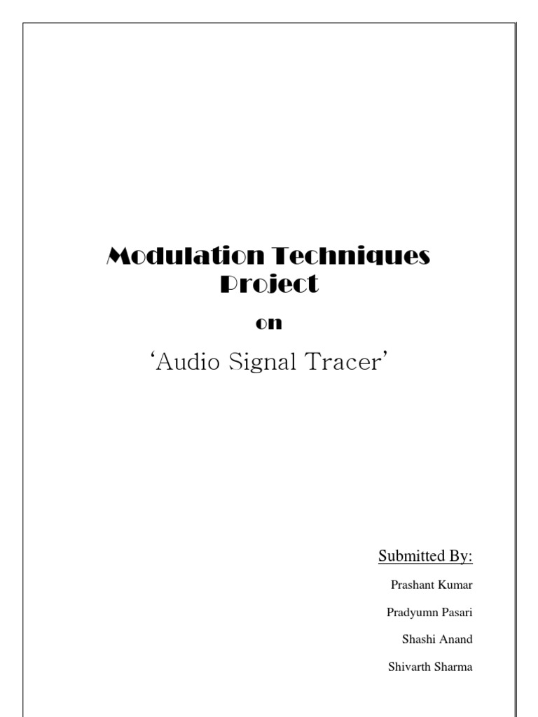 signal tracer report