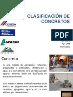 CLASIFICACIÓN DE CONCRETOS