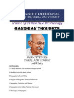 Gandhian Thought Assignment - TARIQ SINDHI