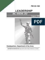 FM 22-100 Army Leadership