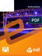 E-Toll Vehicle Instruction Manual