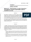As 1012.21-1999 Methods of Testing Concrete Determination of Water Absorption and Apparent Volume of Permeabl