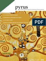 Papyrus - bulletin électronique du Lectorium Rosicrucianum, n°7 (Juillet-Août 2008), 2e année