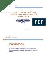 Clase 2 - ciencia - m+¿todo cient+¼fico - USMP - 04.04