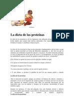 La dieta de las proteínas