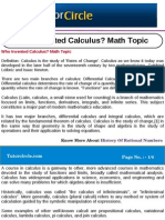 Who Invented Calculus Math Topic