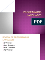 Review of Programming Languages