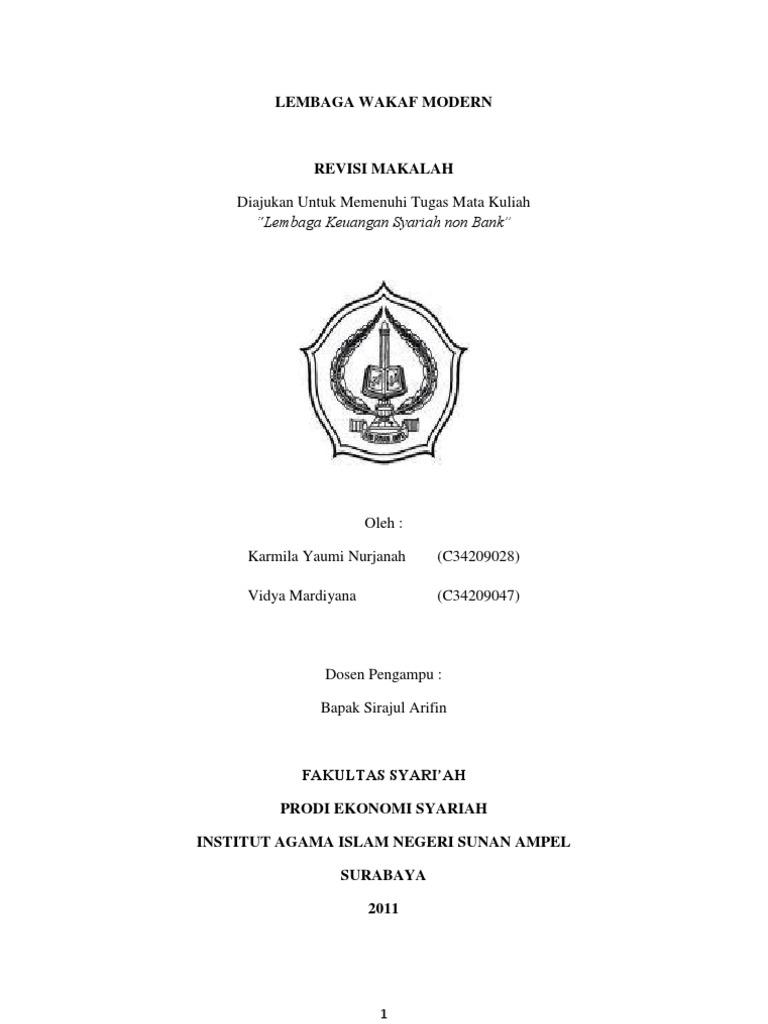 Contoh Makalah Wakaf