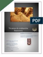 Tecnicas de Evaluacion Financier A