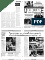 Versión impresa del periódico El mexiquense 20 abril 2011