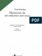 Daniel Paul Schreber Memorias de Un Enfermo Nervioso (1)