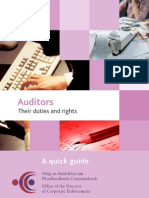 Auditors - Their Duties Rights From ODCE