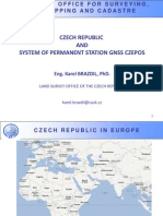 Czech Republic and System of Permanent Station GNSS Czepos- Eng. Karel Brazdil, PhD.