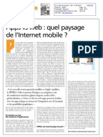 Apps vs Web - Quel Paysage de l'Internet Mobile