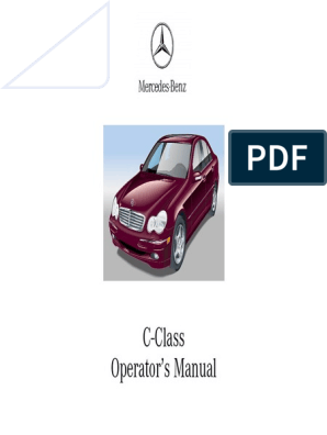 Mercedes C Classe Owner Manual | National Highway Traffic