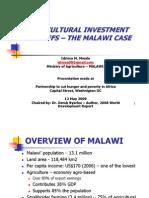 Malawi Farm Input Subsidy Presentation