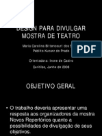 Design Para Divulgar Mostra de Teatro