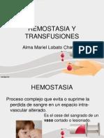 HEMOSTASIA Y TRANSFUSIONES