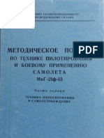 MiG-21F-13 Flight Manual (With Combat Performance Graphs)