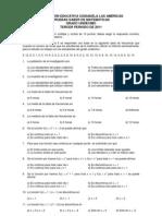 Pruebas Saber de Medidas de Tendencia Central y ad de Funciones Grado 11c2b0