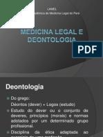 Medicina Legal e Deontologia